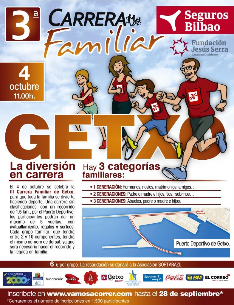 La tercera carrera familiar de Gettxo, patrocinada por Seguros Bilbao.