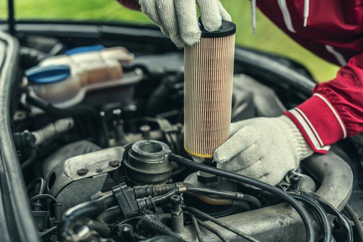 Filtro aceite coche