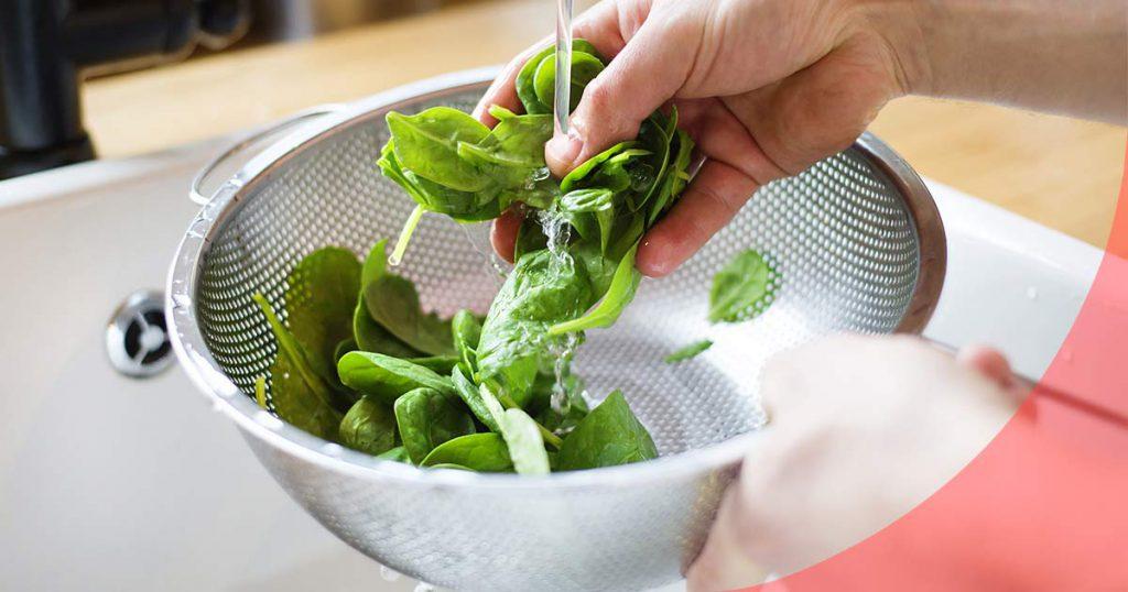 Cómo desinfectar alimentos frescos